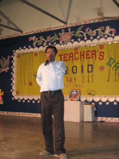Iqbal sir on Teachers day 2010